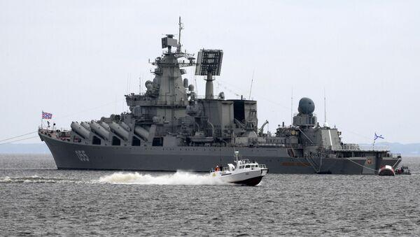 Raketový křižník Severního loďstva Maršal Ustinov - Sputnik Česká republika