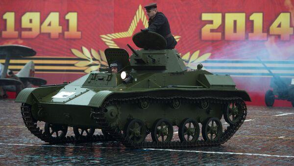 Tank T-60 na Rudém náměstí. Ilustrační foto - Sputnik Česká republika