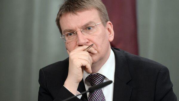 lotyšský ministr zahraničí Edgars Rinkēvičs - Sputnik Česká republika