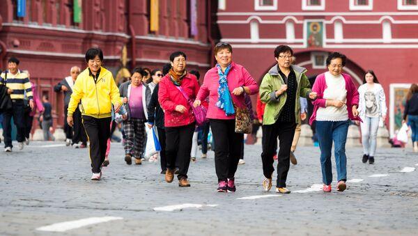 Čínští turisté v Moskvě. Ilustrační foto - Sputnik Česká republika