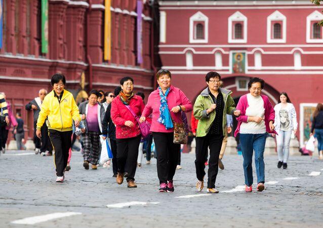 Čínští turisté v Moskvě. Ilustrační foto