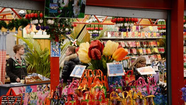 Prodej květin v Amsterdamu - Sputnik Česká republika