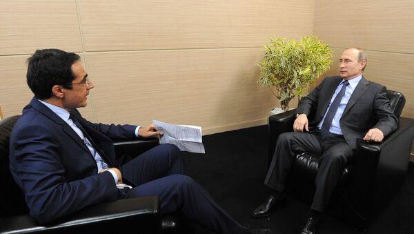 Vladimir Putin, interview pro švýcarský televizní kanál RTS - Sputnik Česká republika