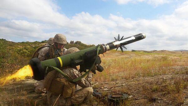 Protitankový raketový komplet FGM-148 Javelin. Ilustrační foto - Sputnik Česká republika