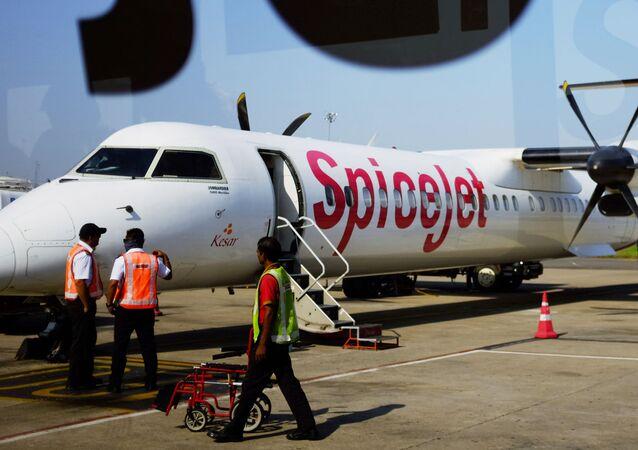 Bombardier Q400 společnosti SpiceJet