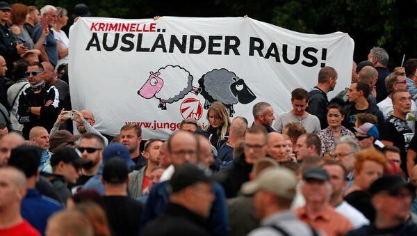 Protesty proti migrantům v Sasku - Sputnik Česká republika