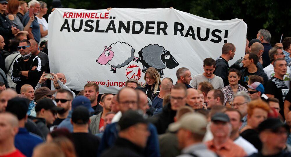 Protesty proti migrantům v Sasku