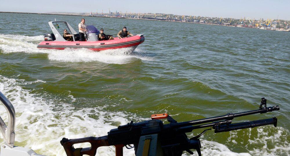 Ukrajinská pobřežní hlídka v Azovském moři