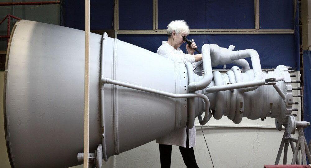 Raketový motor společnosti NPO Energomaš