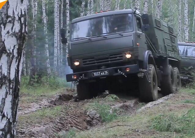 Cvičení v Jekatěrinburské oblasti