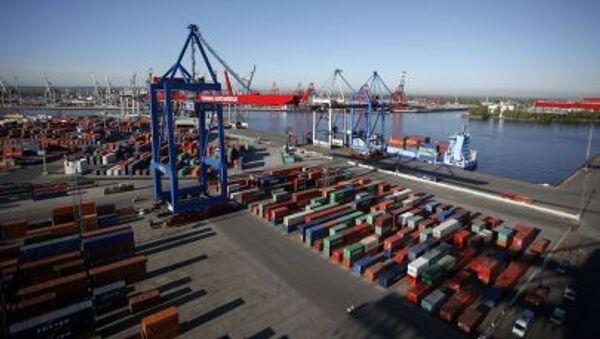 Pohled na přístav v Hamburku. Ilustrační foto - Sputnik Česká republika