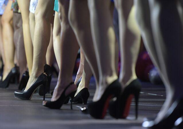 Ženské nohy. Ilustrační foto
