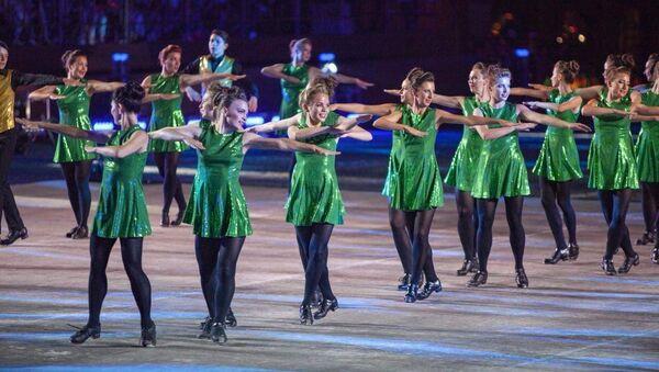 Mezinárodní skupina irských tanců na festivalu Spasská věž 2018 - Sputnik Česká republika