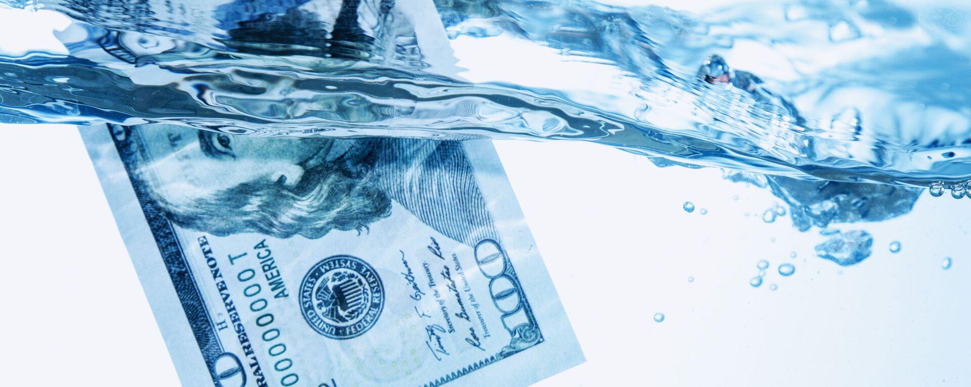 Dolar ve vodě - Sputnik Česká republika, 1920, 11.06.2021