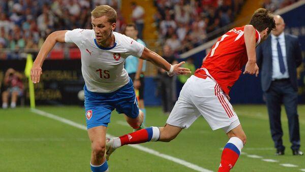 Tomáš Souček a Daler Kuzjajev při přátelském utkání mezi Českem a Ruskem v Rostově na Donu - Sputnik Česká republika