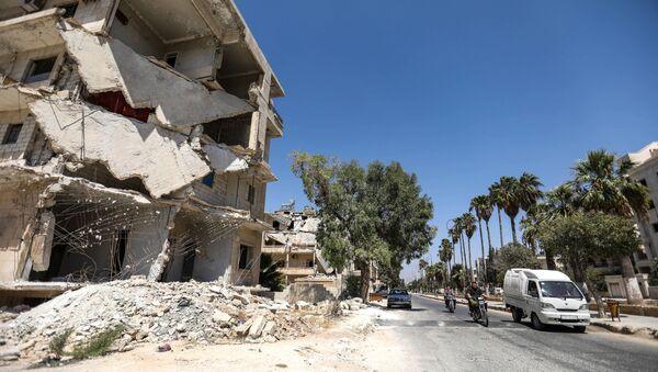 Zříceniny v Idlibu, Sýrie - Sputnik Česká republika