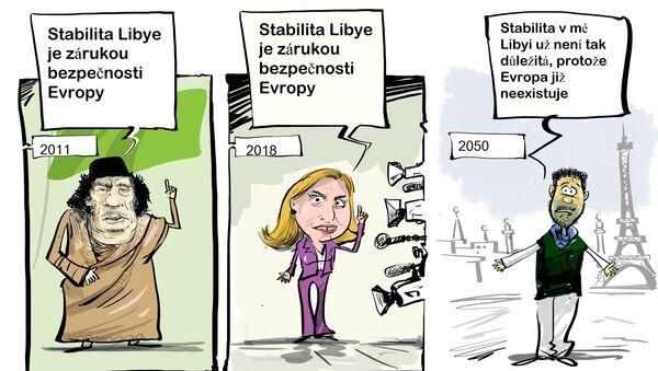 Mogheriniová označila stabilitu v Libyi za záruku bezpečnosti v Evropě - Sputnik Česká republika