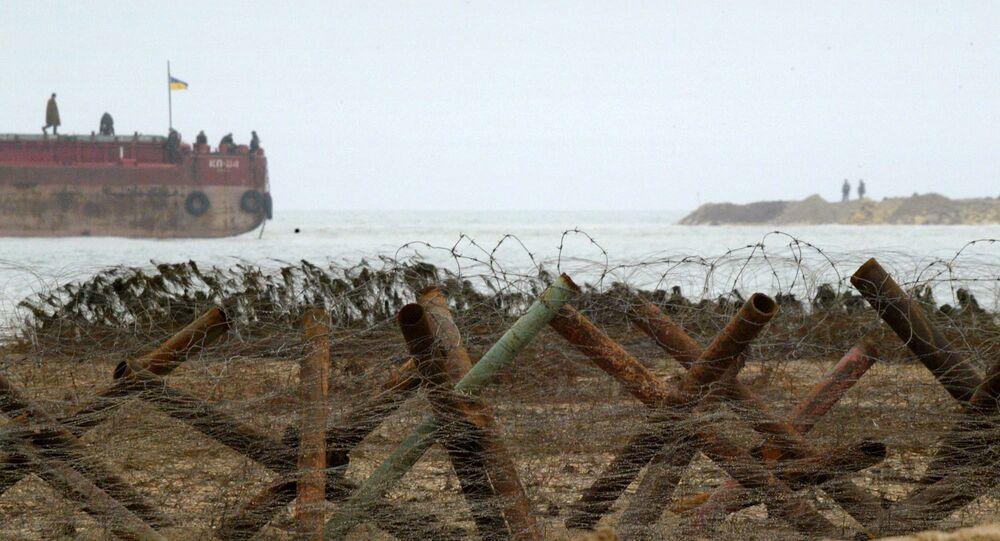 Ukrajinští pohraničníci na Azovském moři