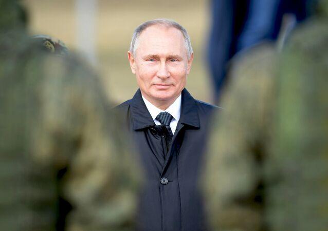 Ruský prezident Vladimir Putin během cvičení Vostok 2018