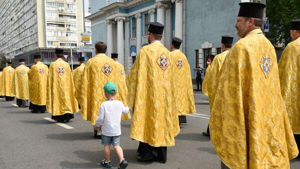 Procesí pravoslavných křesťanů v Kyjevě - Sputnik Česká republika