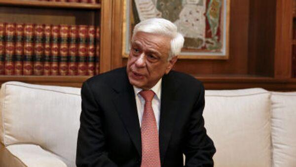 Řecký prezident Prokopis Pavlopoulos - Sputnik Česká republika