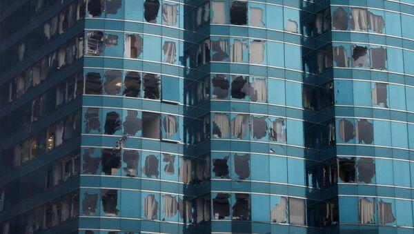 Budovy poškozené tajfunem Mangkhut v Číně - Sputnik Česká republika