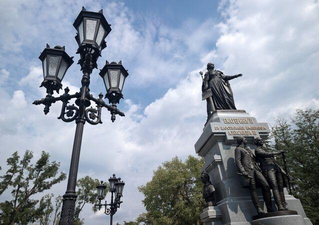 Pomník Kateřiny II. v Simferopolu
