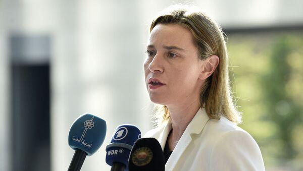 Hlavní zástupkyně  EU pro zahraniční záležitosti a politiku bezpečnosti Federika Mogheriniová - Sputnik Česká republika