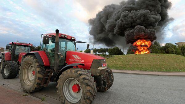 Protesty farmářů v Belgii - Sputnik Česká republika