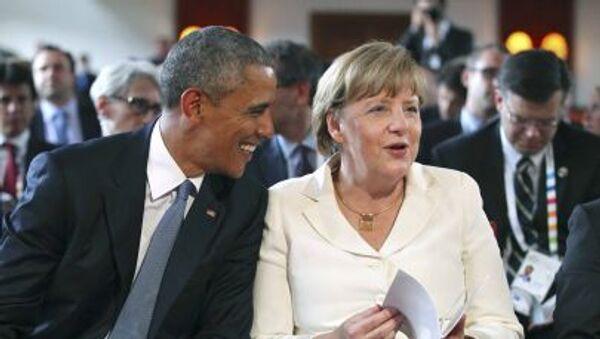 Barack Obama a Angela Merkelová - Sputnik Česká republika