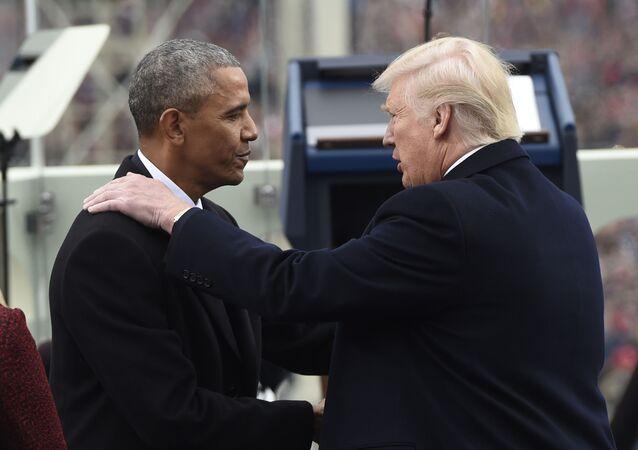 Barack Obama a Donald Trump