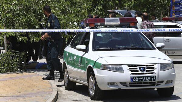 Zásah íránské policie (ilustrační foto) - Sputnik Česká republika