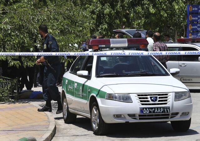 Zásah íránské policie (ilustrační foto)