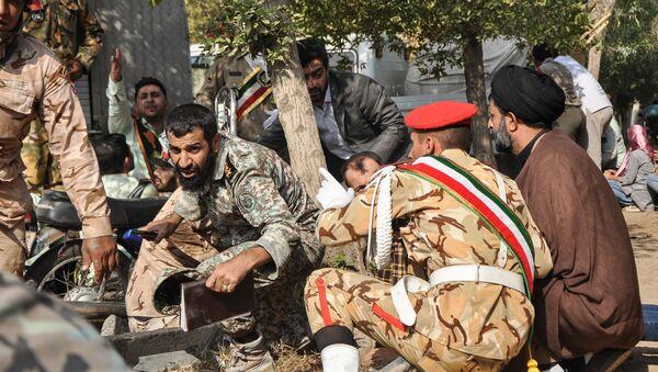 Vojáci na místě teroristického útoku v íránském městě Ahváz. 22. září. 2018. - Sputnik Česká republika