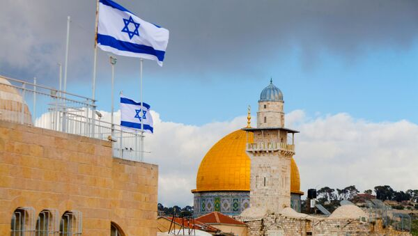Izraelské vlajky v Jeruzalému - Sputnik Česká republika