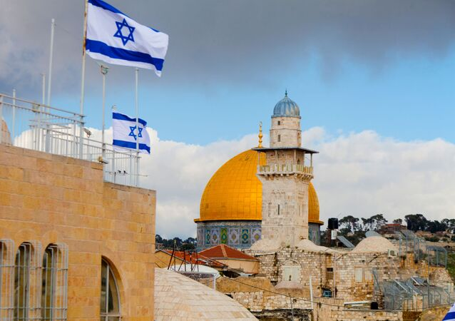 Izraelské vlajky v Jeruzalému