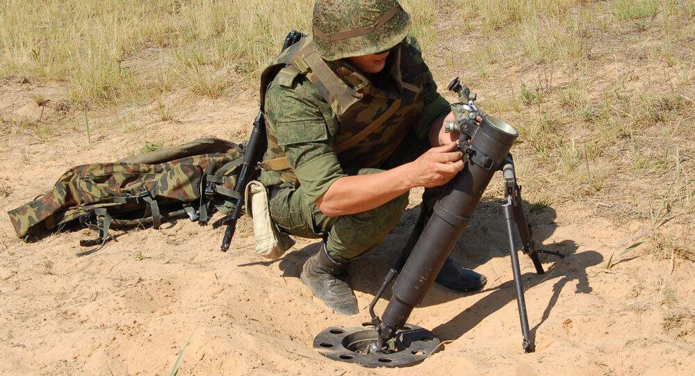 Nový ruský 82 mm minomet 2B25 Gall
