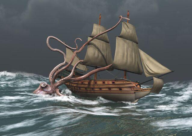 Monstrum z moře. Ilustrace