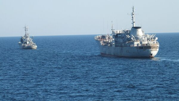 Ukrajinské lodě u krymského pobřeží - Sputnik Česká republika
