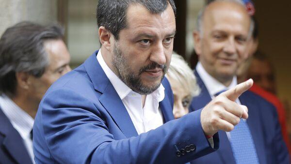 Vůdce strany Liga Matteo Salvini - Sputnik Česká republika