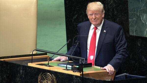 Projev prezidenta USA Donalda Trumpa na Valném shromáždění - Sputnik Česká republika