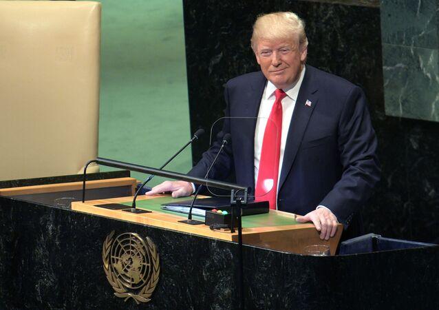 Projev prezidenta USA Donalda Trumpa na Valném shromáždění