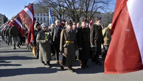 Pochod příslušníku Waffen SS v Rize. Ilustrační foto - Sputnik Česká republika