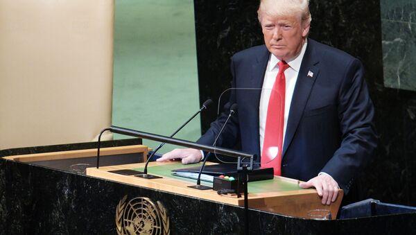 Prezident USA Donald Trump na Valném shromáždění OSN - Sputnik Česká republika