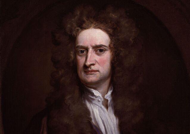 Britský fyzik, sir Isaac Newton