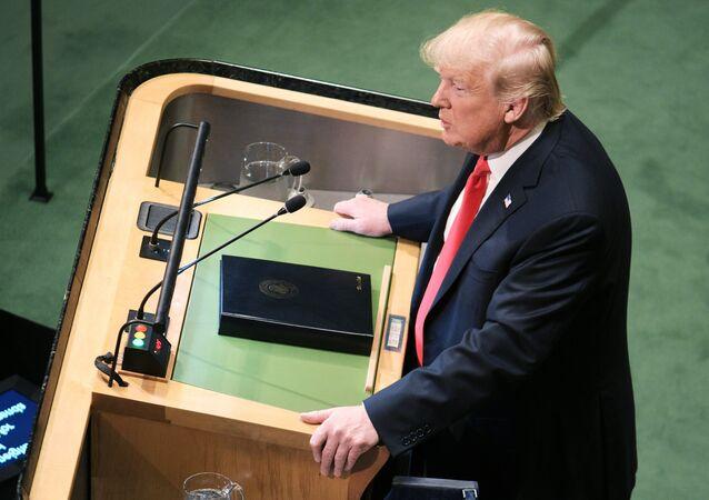Prezident USA Donald Trump na Valném shromáždění OSN