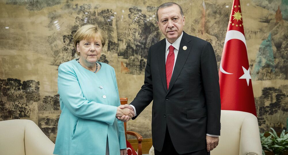 Německá kancléřka Angela Merkelová a její turecký protějšek Recep Tayyip Erdoğan