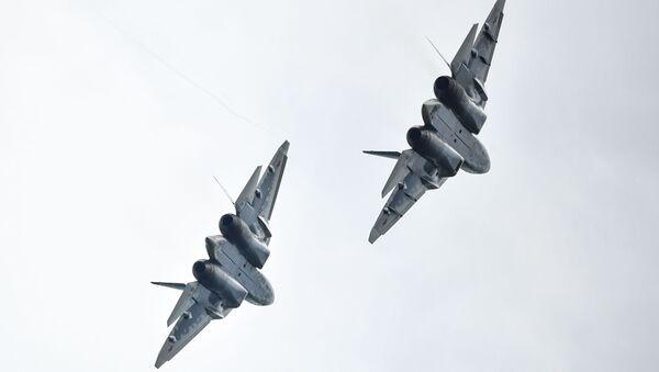 víceúčelová stíhačka páté generace Su-57 - Sputnik Česká republika
