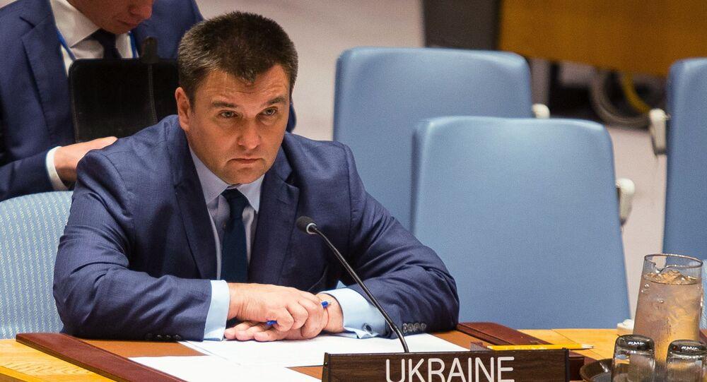 Ukrajinský ministr zahraničí Pavel Klimkin