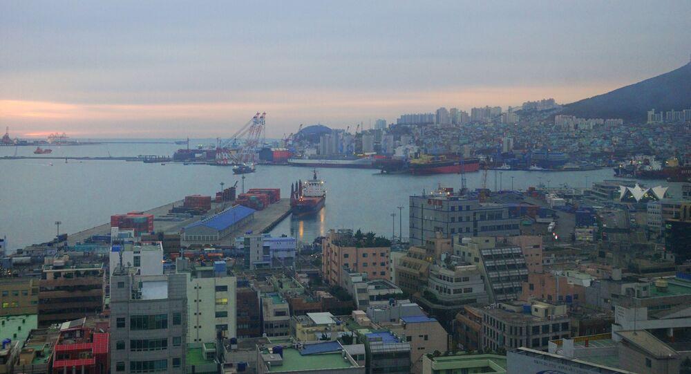 Přístav v Busanu